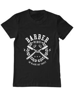 Tricou ADLER barbat Barber Rebel Negru