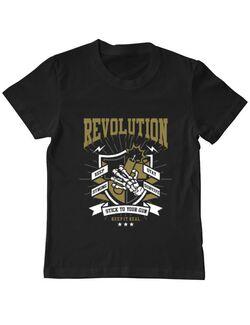 Tricou ADLER copil Revolution Negru