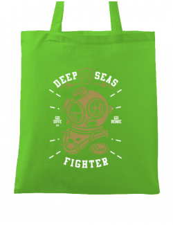 Sacosa din panza Deep Seas Fighter Verde mar