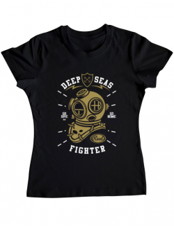 Tricou ADLER dama Deep Seas Fighter Negru