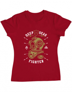 Tricou ADLER dama Deep Seas Fighter Rosu