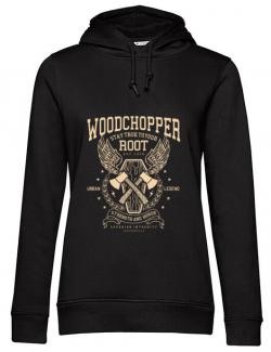 Hoodie dama cu gluga Woodchopper Negru