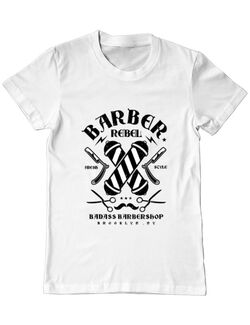 Tricou ADLER barbat Barber Rebel II Alb