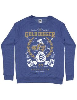 Bluza ADLER barbat Gold Digger Albastru melanj