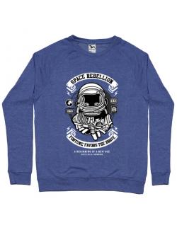 Bluza ADLER barbat Space Rebellion Albastru melanj