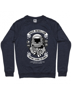 Bluza ADLER barbat Space Rebellion Denim inchis