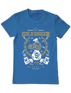 Tricou ADLER barbat Gold Digger Albastru azuriu