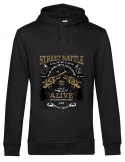 Hoodie barbat cu gluga Street Battle Negru