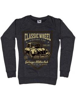 Bluza ADLER dama Classic Wheel Negru melanj