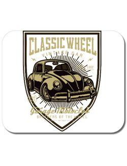 Mousepad personalizat Classic Wheel Alb