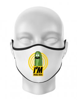 Masca personalizata reutilizabila I'm pickle Rick! Alb