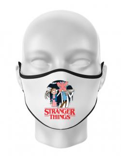 Masca personalizata reutilizabila Stranger Ricks Alb