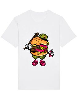 Tricou STANLEY STELLA barbat Bastard burger Alb