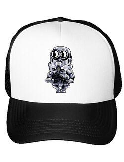 Sapca personalizata Minion trooper Alb