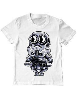 Tricou ADLER copil Minion trooper Alb