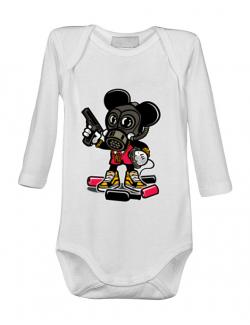 Baby body Gangsta Mouse Alb