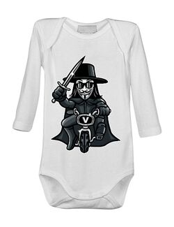 Baby body Vendetta Biker Alb