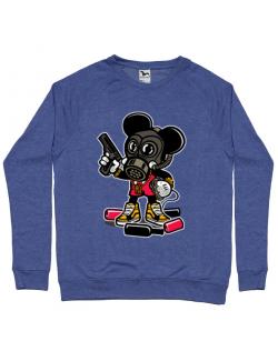 Bluza ADLER barbat Gangsta Mouse Albastru melanj