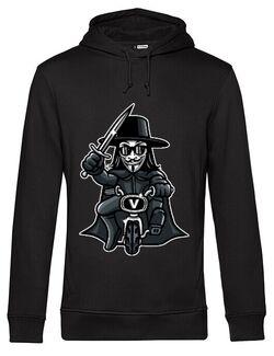 Hoodie barbat cu gluga Vendetta Biker Negru