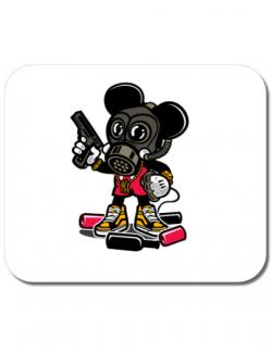 Mousepad personalizat Gangsta Mouse Alb