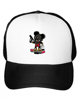 Sapca personalizata Gangsta Mouse Alb
