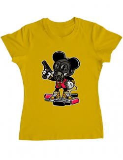 Tricou ADLER dama Gangsta Mouse Galben