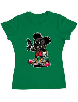 Tricou ADLER dama Gangsta Mouse Verde mediu