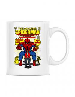 Cana personalizata The Amazing Spiderman Alb