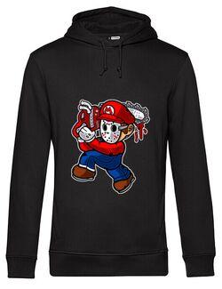 Hoodie barbat cu gluga Mario Massacre Negru
