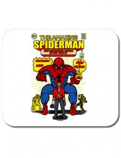 Mousepad personalizat The Amazing Spiderman Alb