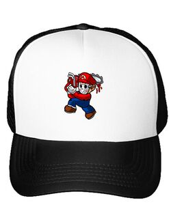 Sapca personalizata Mario Massacre Alb