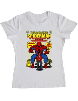 Tricou ADLER dama The Amazing Spiderman Alb