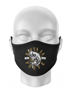 Masca personalizata reutilizabila Bafta la peste Negru