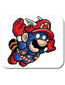 Mousepad personalizat Captain Mario Alb