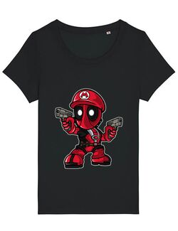 Tricou STANLEY STELLA dama Mario Deadpool Negru
