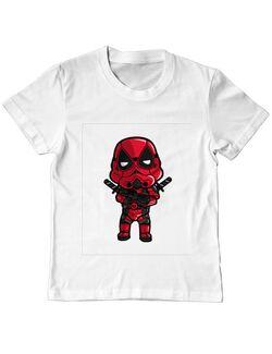 Tricou ADLER copil Deadtrooper Alb
