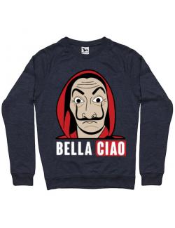 Bluza ADLER barbat Bella ciao Denim inchis