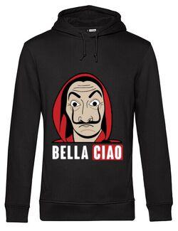 Hoodie barbat cu gluga Bella ciao Negru