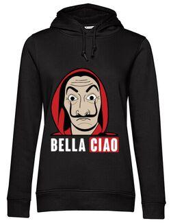 Hoodie dama cu gluga Bella ciao Negru