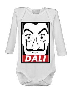Baby body Dali mask Alb