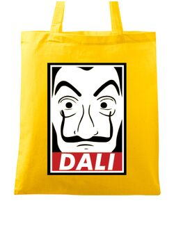 Sacosa din panza Dali mask Galben
