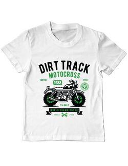 Tricou ADLER copil Dirt Track Alb