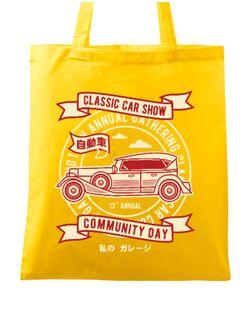 Sacosa din panza Classic Car Show Galben