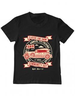 Tricou ADLER copil Classic Car Show Negru