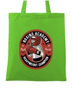 Sacosa din panza Boxing Academy Verde mar