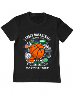 Tricou ADLER copil Street Basketball Negru