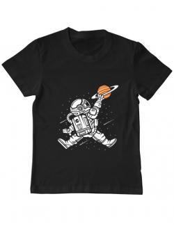 Tricou ADLER copil Space Jump Negru