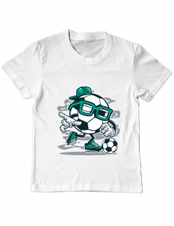 Tricou ADLER copil Street Soccer Alb