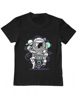 Tricou ADLER copil Space Bike Negru