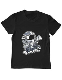 Tricou ADLER copil Space Racer Negru